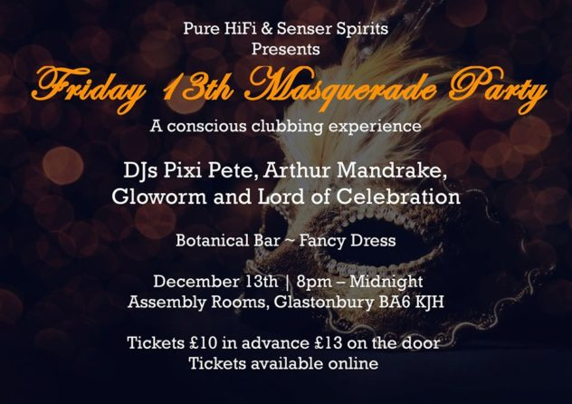 Masquerade Party - DJ Pixi Pete / Fancy Dress... alcohol free conscious clubbing