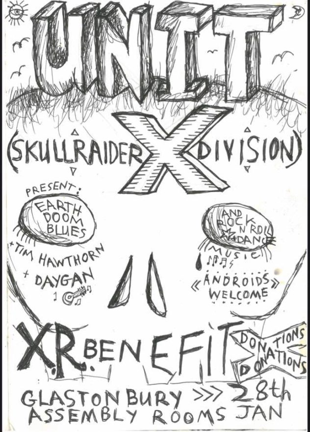 XR benefit gig: Unit X, Tim Hawthorn, Daygan (bands)