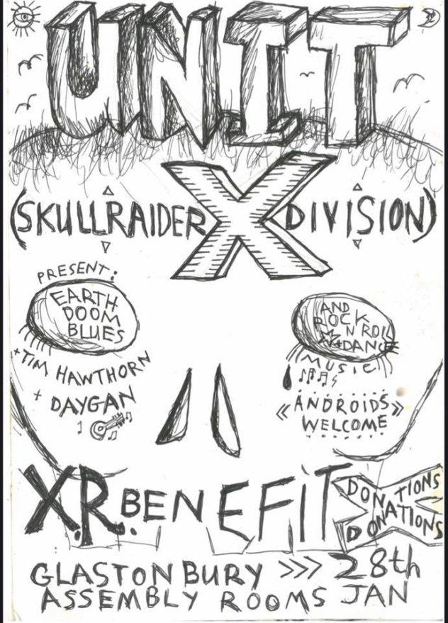 XR benefit gig: Unit X, Tim Hawthorn, Daygan (bands)